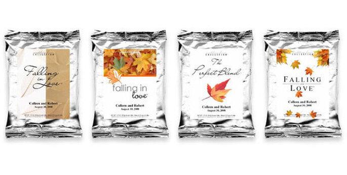 Petits sacs comprenant différents types de cafés