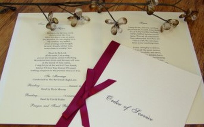 Order of Service booklets are your guests' guide to the wedding