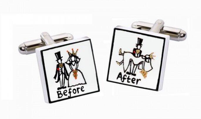 Manschettenknöpfe Before & After, weddingshop.de