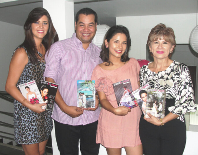 Staff de Guayana Bouquet (Iraida Falcón, Daniel Febres, Yesly Suárez y Belkis Medina). Imagen: Zankyou VE