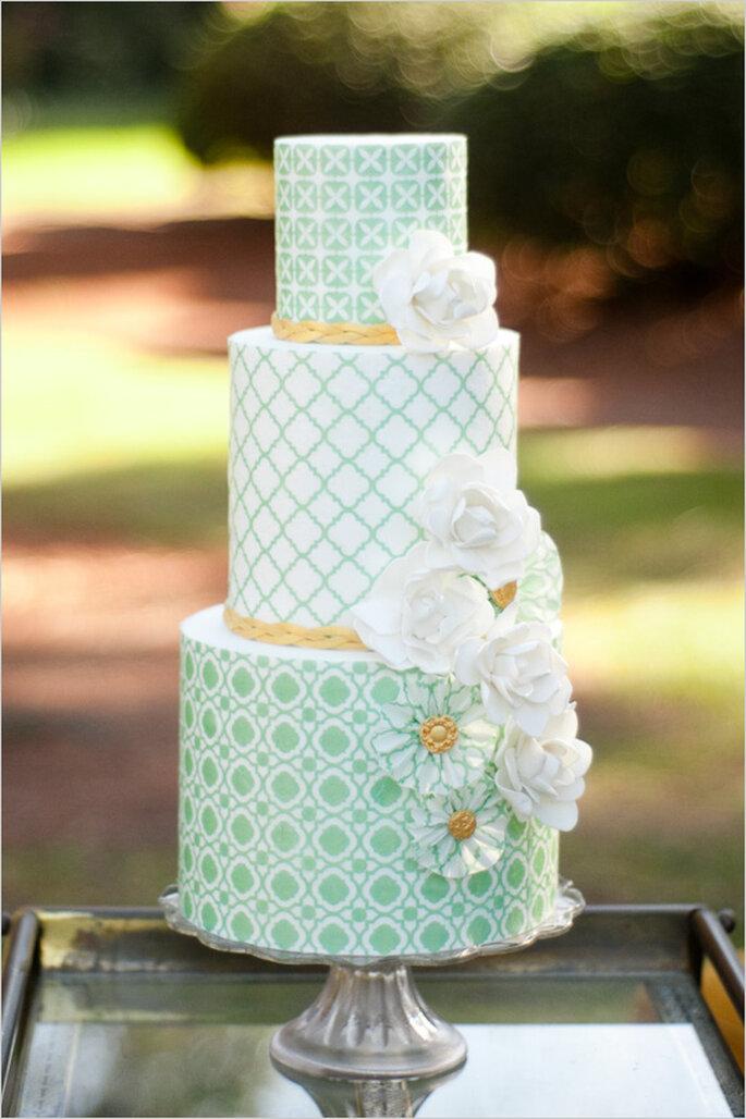 Pasteles de boda multicolor para 2014 - Foto Sunday Romance