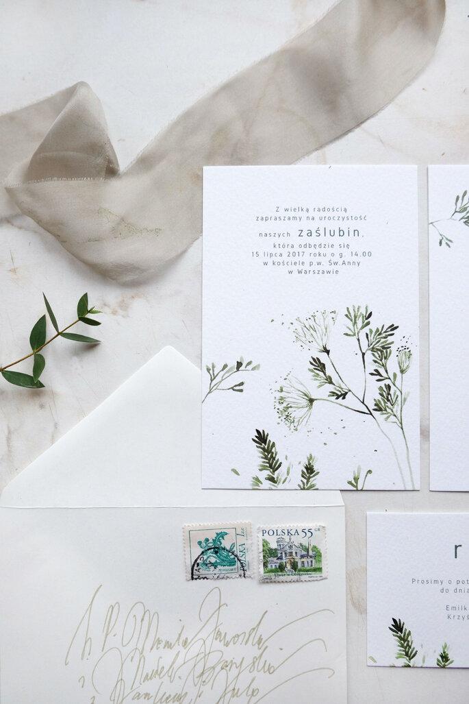 Zielnik zaproszenie Love Prints