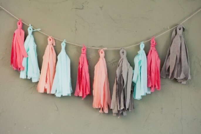 Decoraciones de papel para tu boda - Foto Confetti System
