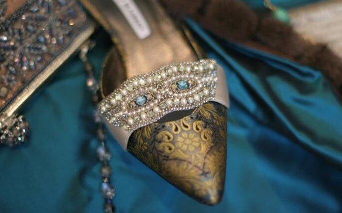 Zapatos para novias de Manolo Blahnik, delicadeza, feminidad y sensualidad a tus pies