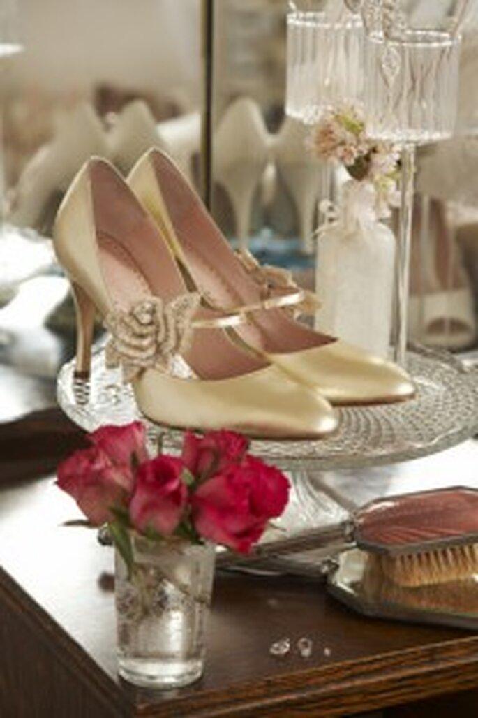 Brautschuhe Vintage Stil