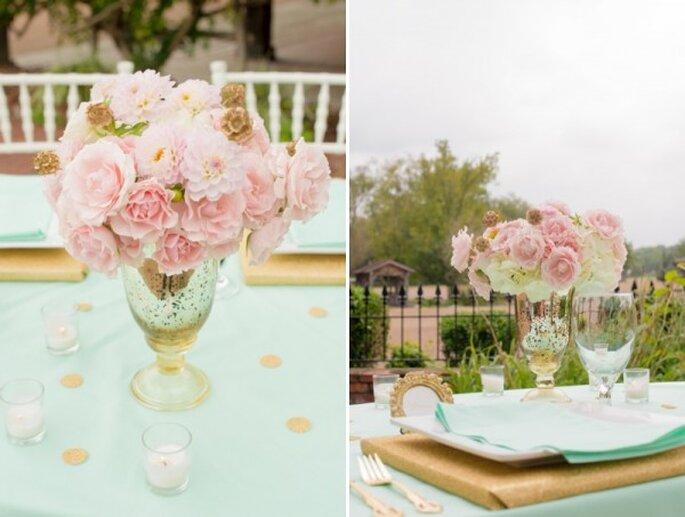 Real decor rom ntica decoraci n de boda en colores menta for Decoracion boda romantica