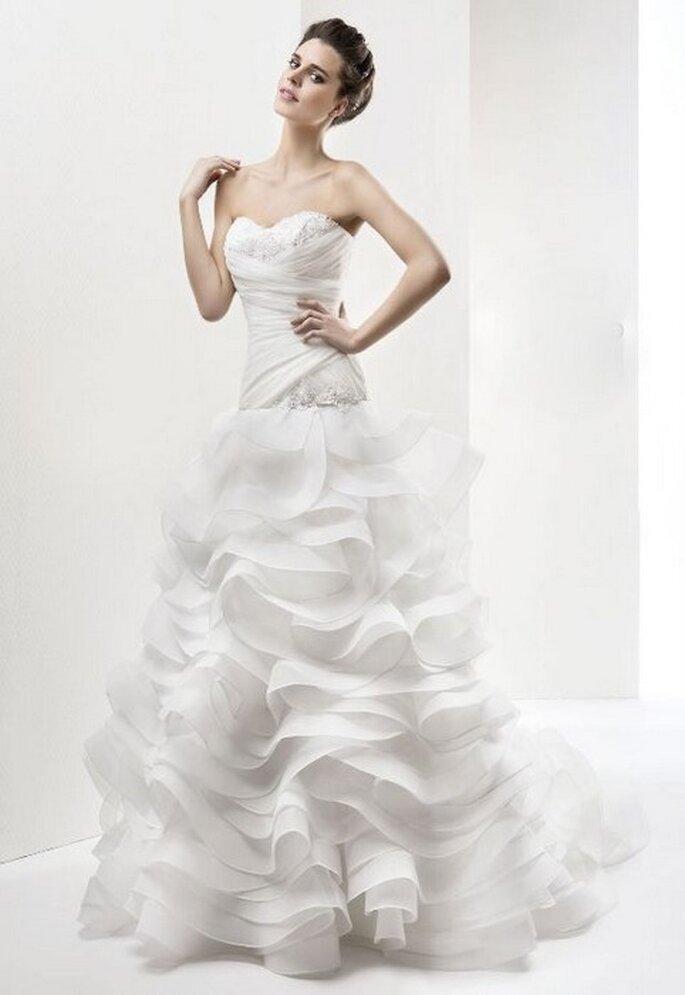 Vestido de novia Maranello de Cabotine. Vista del frente. Foto: www.cabotine.es