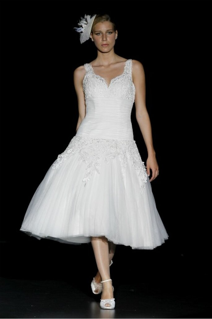 Vestido de Charo Peres, de la colección 2012, inspirada por el traje de un bailarín. Foto: Ugo Cámara / IFEMA