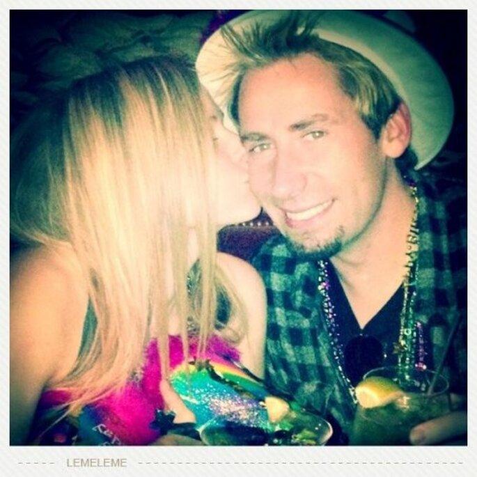 Avril Lavigne se casó con el cantante Chad Kroeger - Foto Avril Lavigne Facebook