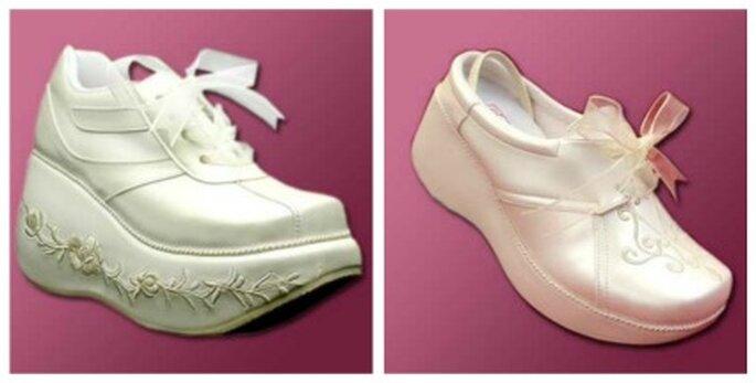 Diferentes modelos de zapatillas de deporte para novias