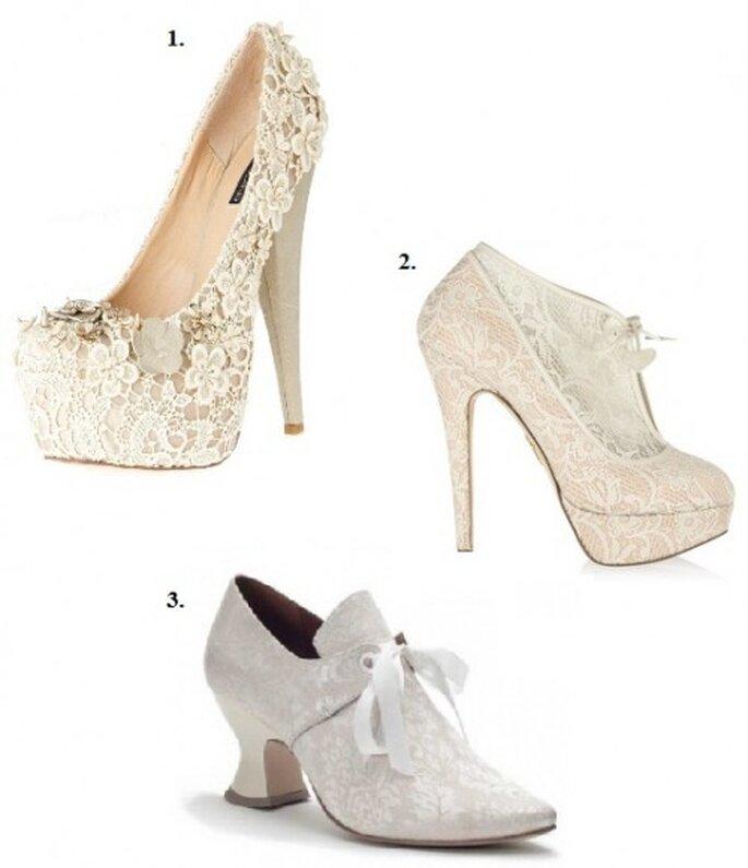 Chaussures de mariage blanches originales
