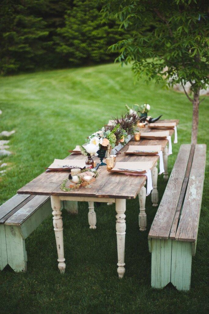 Una boda con toques rústicos - Foto Rebecca Hollis Photography