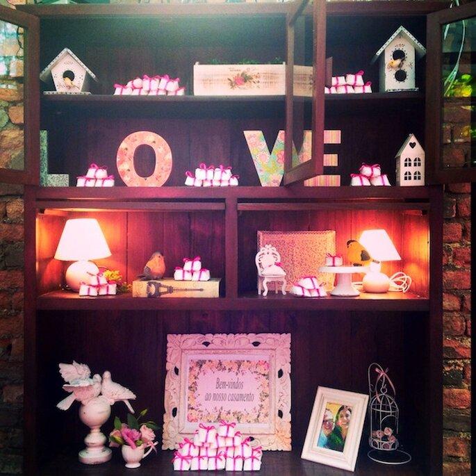 Toda a decoração feita de acordo com os desejos dos noivos Foto: Restaurante Quintal