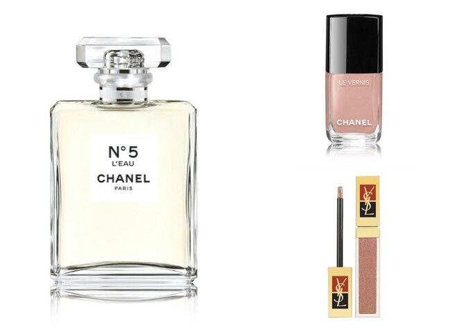 Perfume y esmalte de uñas: Chanel, Gloss: Yves Saint Laurent.