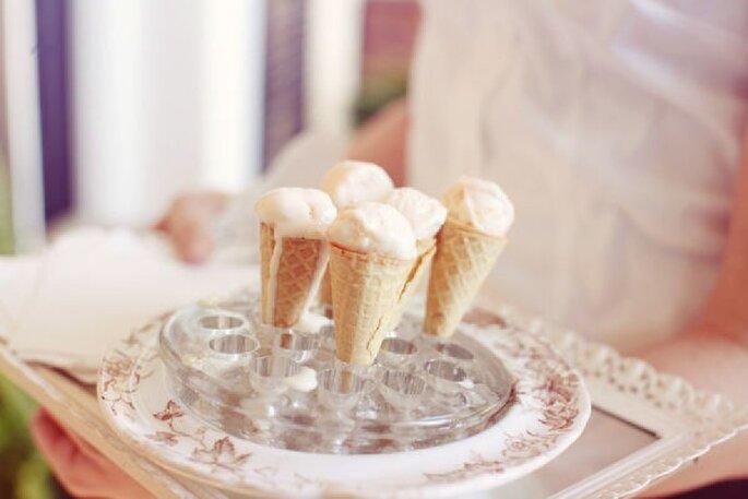 Sorprende a tus invitados con helados de distintos sabores - Foto Anne Marie Photography