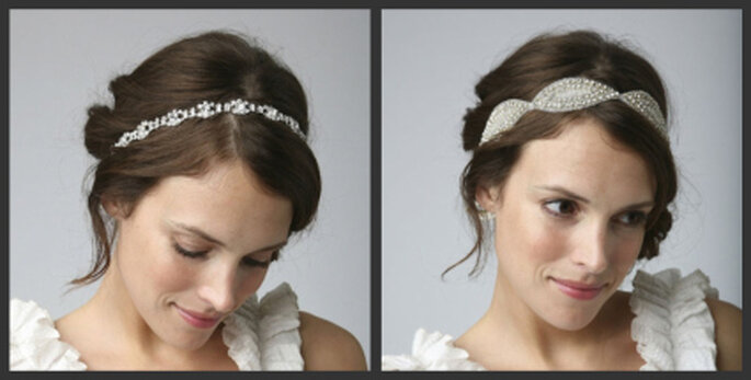 Links: Sandra Vintage Bridal Headband, rechts: Calista Vintage Bridal Headband
