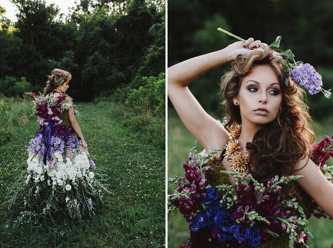Платье из натуральных цветов - With Love & Embers