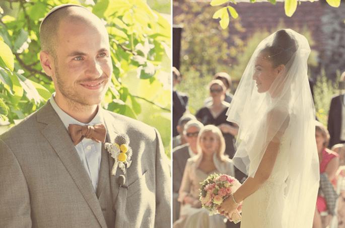 10 originales y coloridos boutonnieres para inspirar tu boda. Fotografía Nancy Ebert