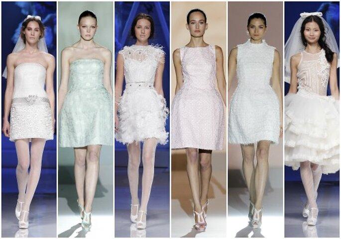 Vestidos de novia cortos 2013. Foto: Barcelona Bridal Week