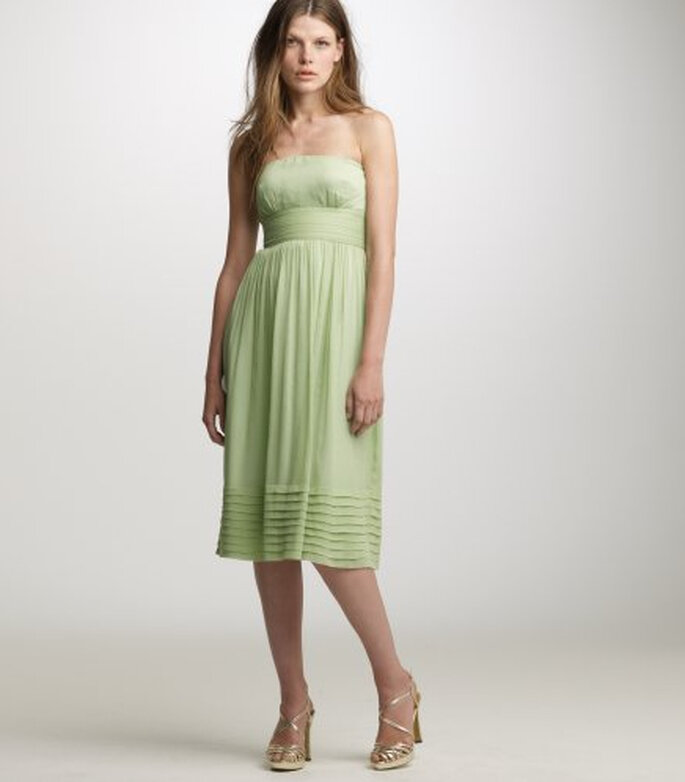 J.Crew Silk Chiffon Juliet Strapless Dress, $180.