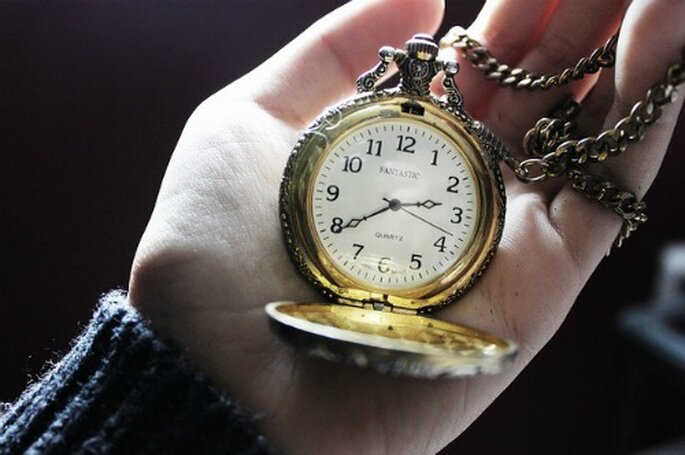 Precioso reloj antigu como regalo para tu pareja.  Foto: Calleecakes