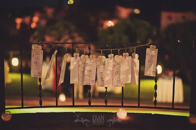 Tarjetas para invitados- Foto: Fran Russo