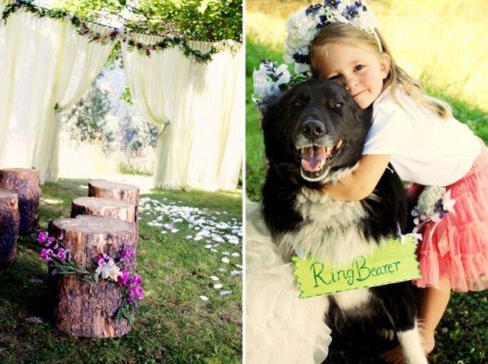 Tu mascota llevando los anillos en tu boda - Fotos: Green Wedding Shoes