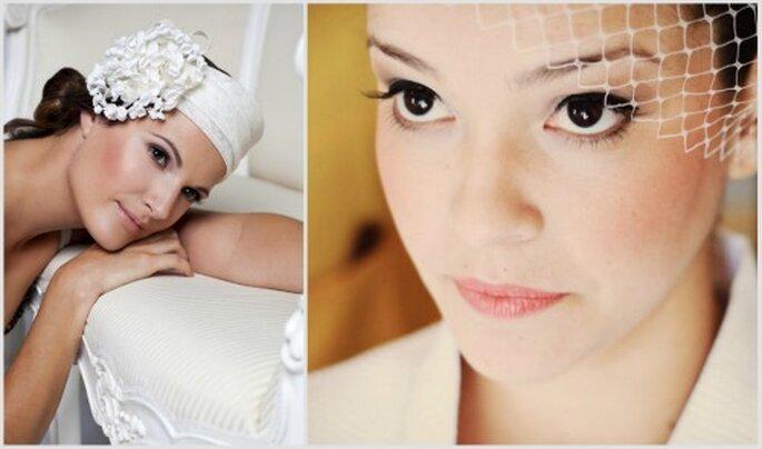 Los ojos de estas dos novias. Fotos: Jessica Beattie Millinery y Tudovirafoto