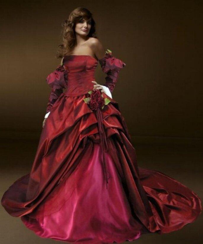 Multi Tonal Faux Fur Cuffs Gothic Gown - Gothicweddingdresses.webs.com
