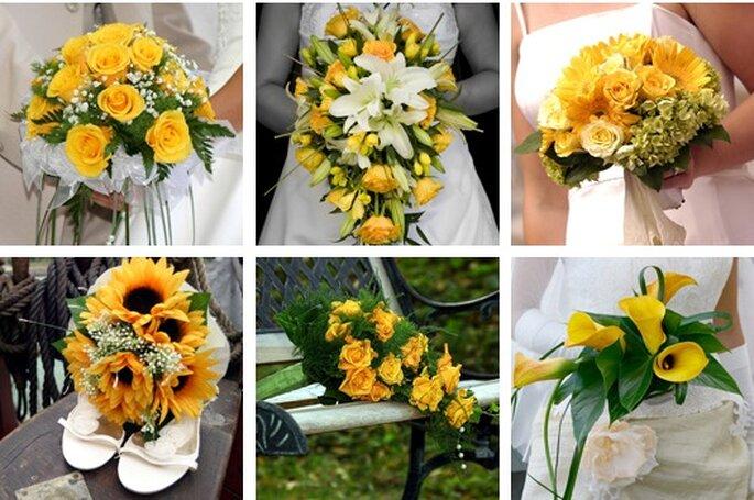 Bouquets de Noiva em Amarelo - www.bridalcookie.com