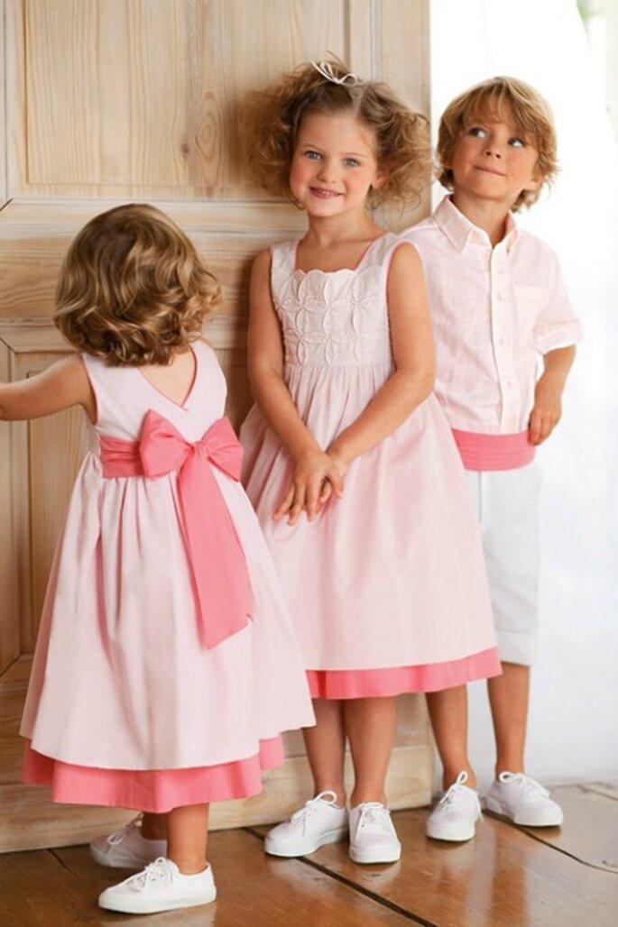 La tenue des enfants d'honneur donne le ton du mariage - Photo : Cyrillus