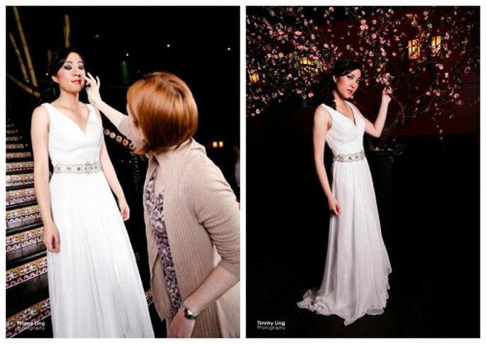 La modelo durante el shooting. Foto: Timmy Ling