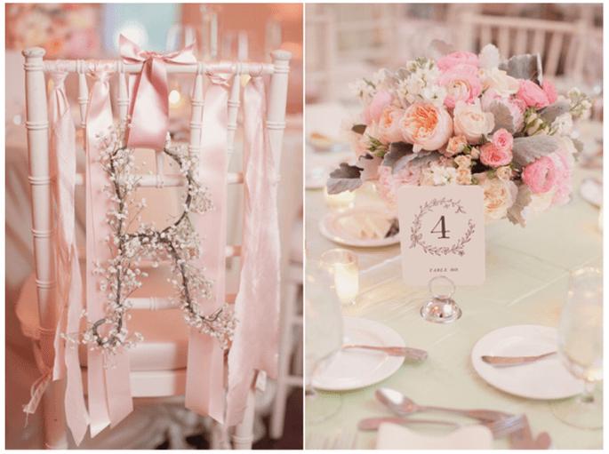 Decoración de boda con divertidas letras - Foto Elisabeth Millay