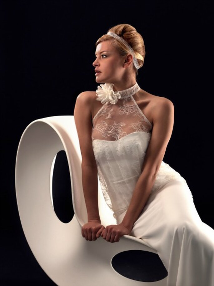 Robe de mariée Lambert Créations 2013, modèle Dolmen - Photo : Lambert Créations