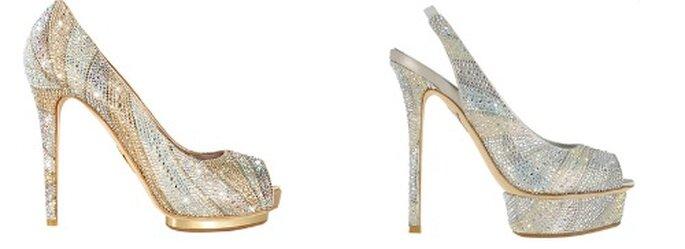 Per una sposa che non ha paura di osare questi due modelli di Le Silla tempestati di swarovsky sono il massimo! Limited Edition 2012