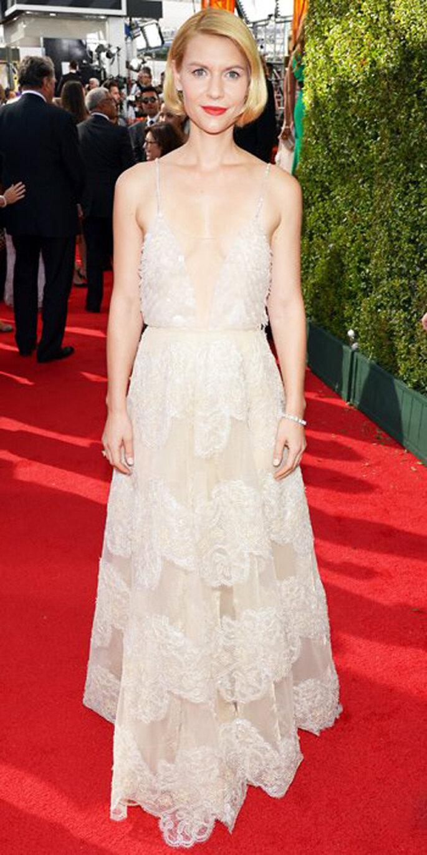 Claire Danes luce un vestido Armani Privé en los Emmy 2013 - Foto InStyle Facebook