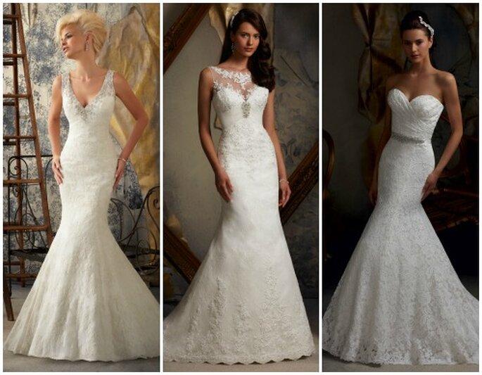 Eleganti modelli a sirena in pizzo. Mori Lee 2013 Bridal Collection. Foto: www.morilee.com