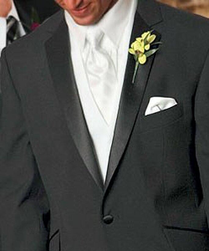 Corbata blanca en seda