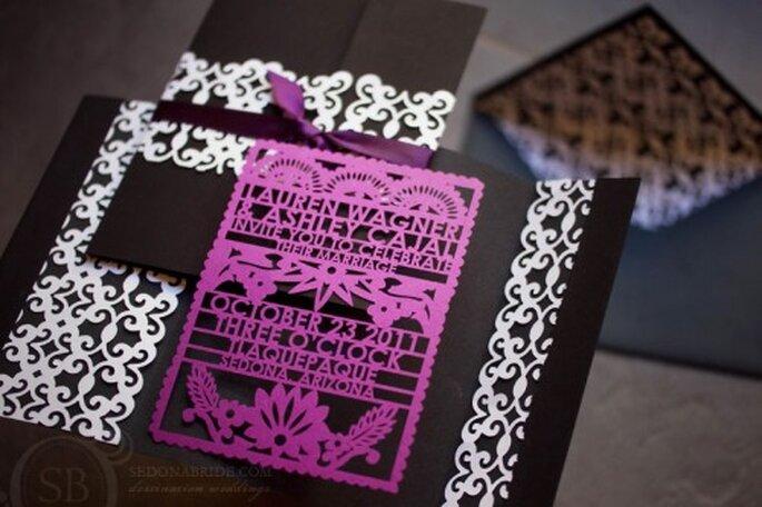 Invitación de boda inspirada en el Día de Muertos - Foto Sedona Bride