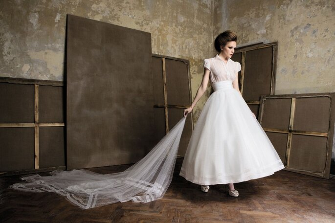 Modelo Degas da Elizabeth Barboza para Pronuptia 2011