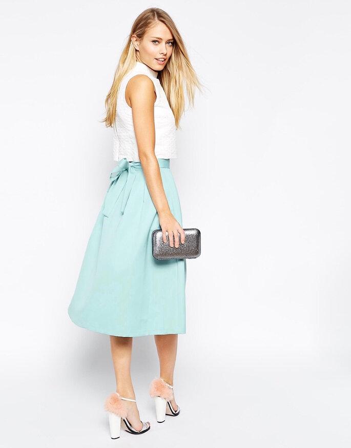 Midi skirt para invitada de boda - ASOS3