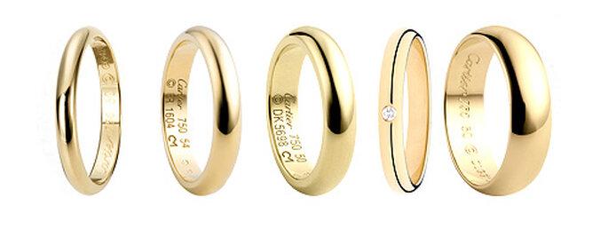 Alianzas de oro, de Cartier
