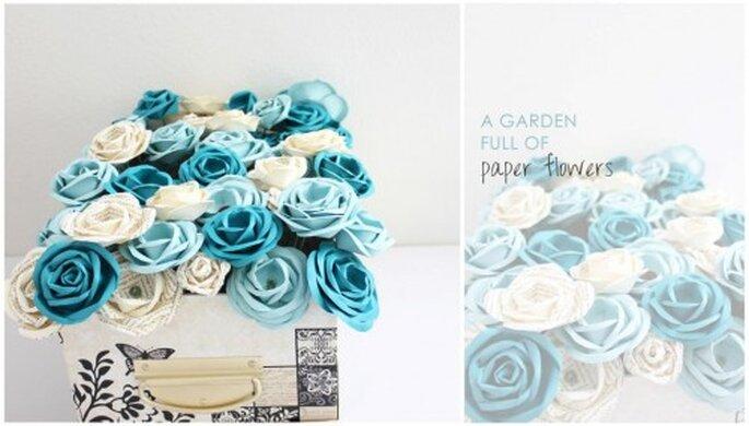Flores para boda. Foto de Handmade by Sara Kim.