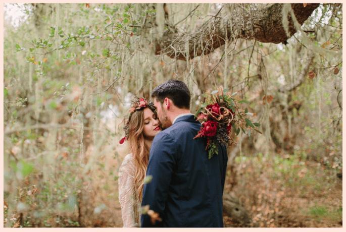 Sesión de fotos pre boda inspirada en los colores del invierno - Foto Danielle Capito