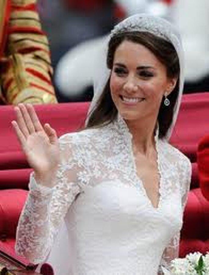 3. el vestido de Catherine Middleton fue diseñado por su paisana británica Sarah Burton de Alexander McQueen.