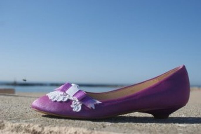 Zapato de novia morado - Mademoiselle Rose