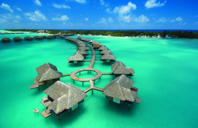 Bora Bora, no Tahiti. Foto: TM Travel
