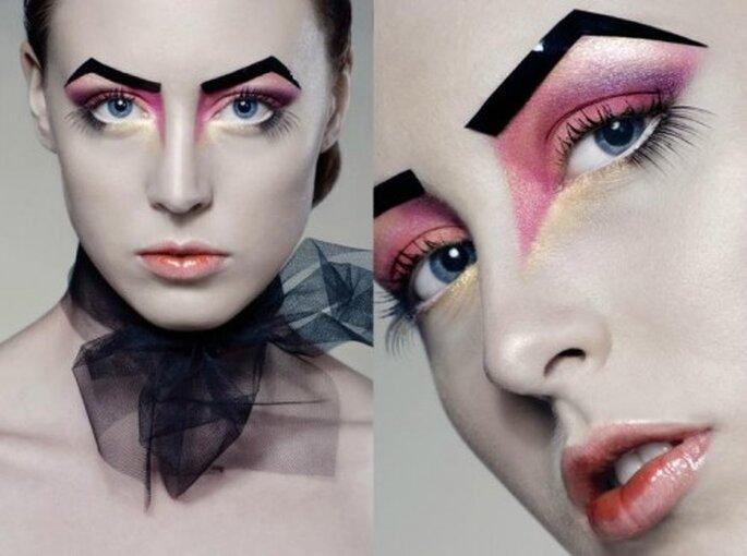 Maquillaje gótico preboda. Foto de Monique Zoellner.