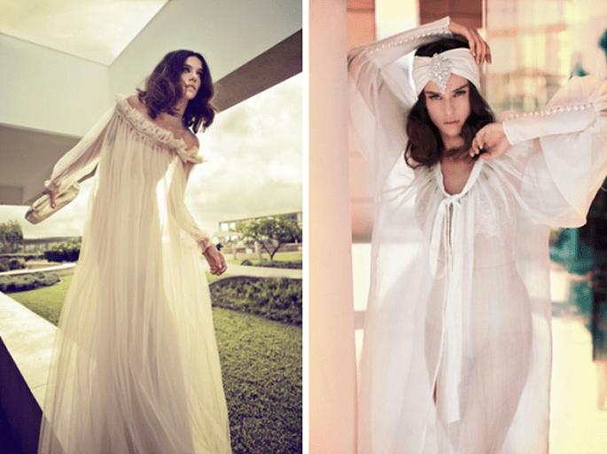 Vestidos de novia 2014 con estilo hippie - Foto Zahavit Tshuba