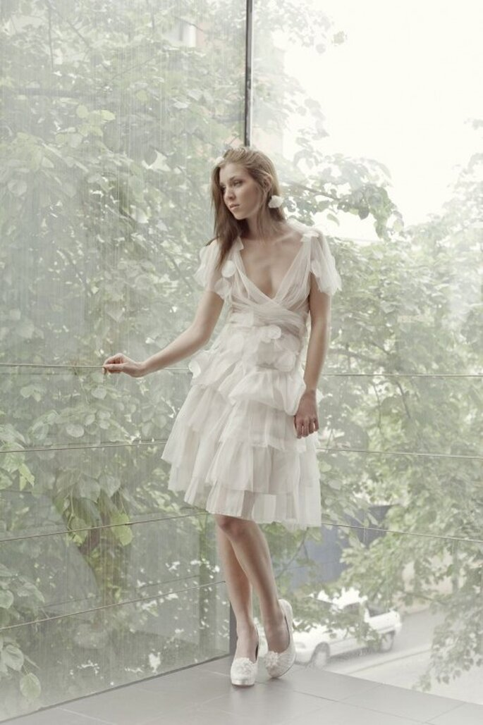 Les robes de mariée Gwanni 2014 jouent sur la pureté des lignes et la noblesse des matières